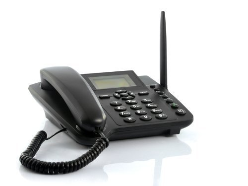 Wireless GSM Desktop Phone - Desktop Style Phone with SIM Card Slot by The Emperor of (Desktop Cell Phone)
