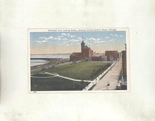 1926 Michigan Ave Illinois Central Depot Chicago ORIGINAL - Chicago Michigan Ave Ave And