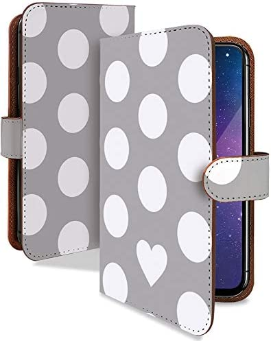 iPhone6s ケース 手帳型 ドット ハート グレー ドット柄 シンプル スマホケース アイフォン アイフォーン アイフォン