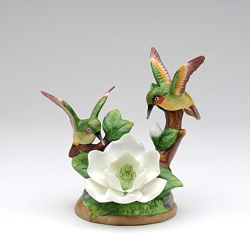 (Cosmos Gifts Fine Elegant Porcelain Double Hummingbird with Magnolia Figurine, 5