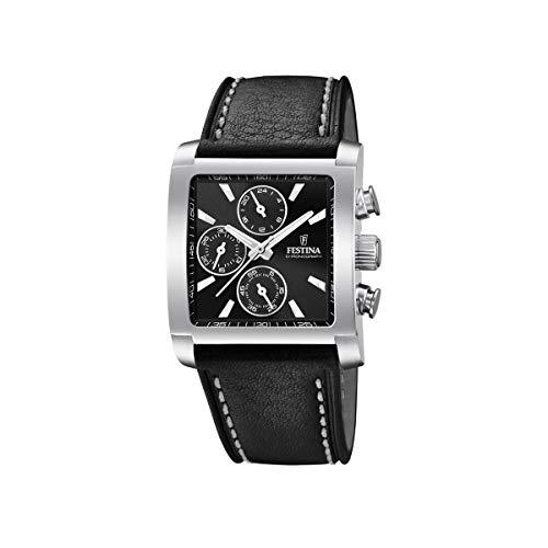 Festina Mens Chronograph Quartz Watch with Leather Strap F20424/3