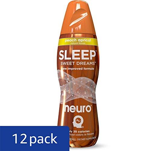 Neuro Bliss Nutritional Supplement Drink White Raspberry: Neuro Sleep Drink, Peach Apricot 14.5-Ounce Bottles (Pack
