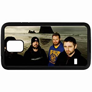 Personalized Samsung S5 Cell phone Case/Cover Skin 36 Crazyfists Twilight Island Waves Look Black