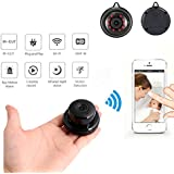 Mini Security Camera, Mini Home Security WiFi 1080P IP Camera Wireless Small CCTV Infrared Night Vision Motion Detection SD Card Slot Audio APP