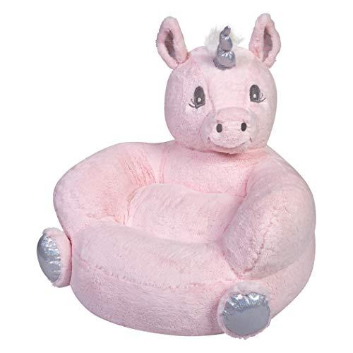 Trend Lab Children's Plush Pink Unicorn Character Chair