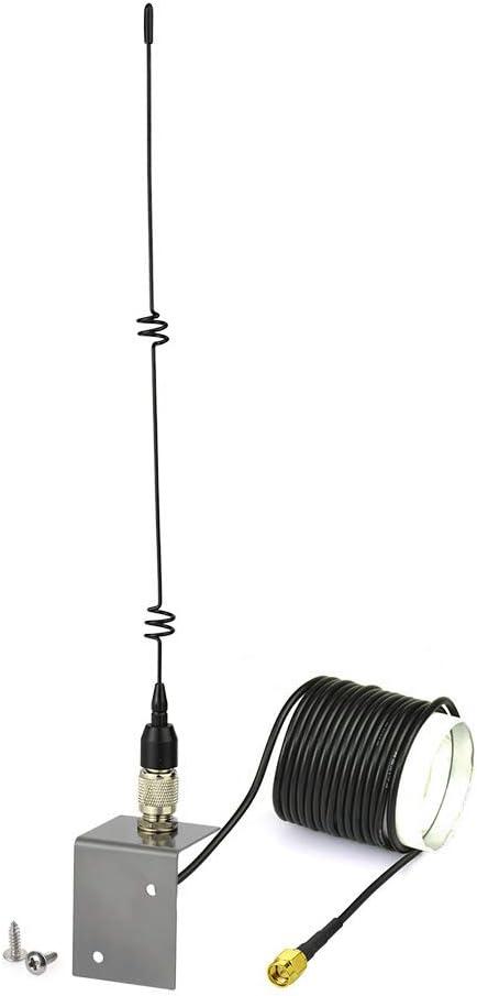 Eightwood Car Antenna 3G 4G 5dBi 10cm RG174 Cavo Adattatore SMA maschio Antenna Montaggio Base Foro Supporto L Staffa per 3G 4G GSM//UMTS//CDMA//GPRS 2G 3G 4G Router LTE Bluetooth MiMo SIM Card