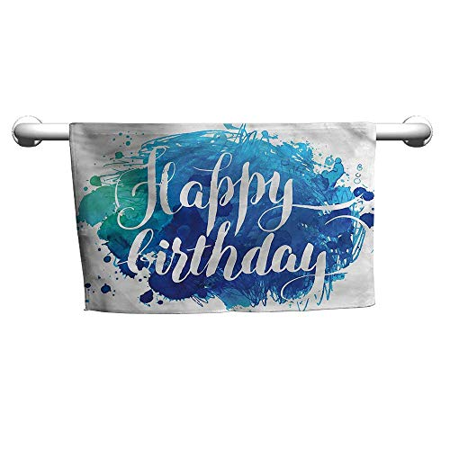 alisoso Birthday,Bath Sheet Artsy Greeting Message W 28