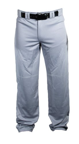 Louisville Slugger Men's Slugger Stadium Relax-Fit Open Bottom Pant, Grey, - Pants Baseball Baggy