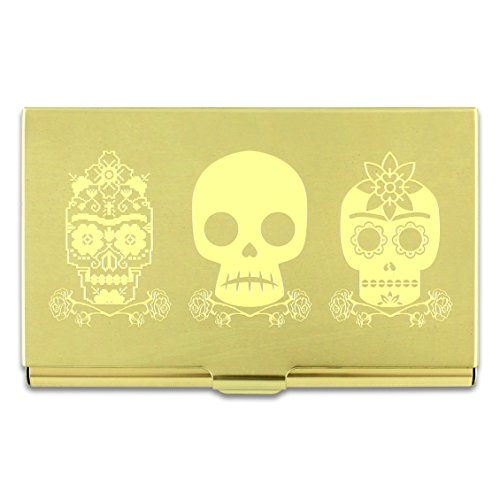 ACME Studios 3 SKULL Etched Card Case by Frida Kahlo (C2FK06BC)