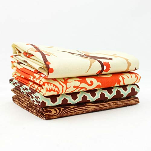 Free Spirit Aviary 2 - Saffron Fat Quarter Bundle (4 pcs) - Joel Dewberry 9 x 43 inches (22.86cm x 109.22cm) DIY Quilt Fabric