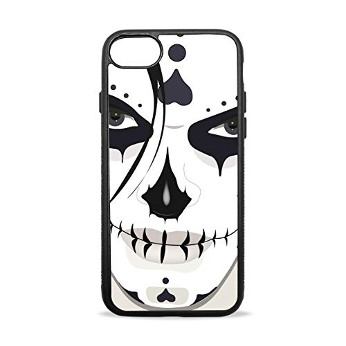 KEAKIA Halloween Guy Makeup Style iPhone Case Soft TPU Rubber Skin Slim Protective Cover for (iPhone -