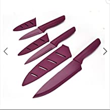 KCASA KC-SSK115 Multifunction Kitchen Knife Stainless Steel Chef's Knife Utility Fruit Knife Cultery (purple)