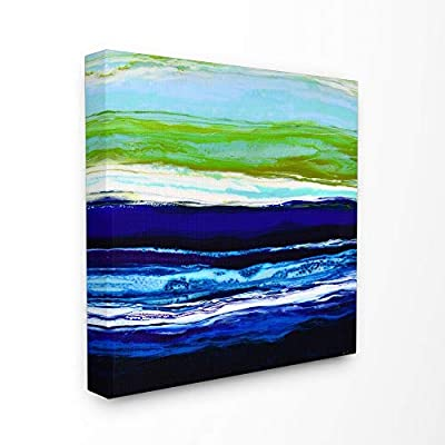 Stupell Industries The Stupell Home Decor Collection Acrylic Resin Ocean Sea Breeze Air Abstract, Canvas, 17 x 1.5 x 17, Made in USA - Multi-Color