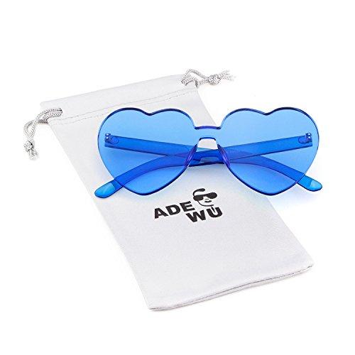Blue montura sol de Gafas con forma sol corazón de para de Gafas mujer sin niña corazón forma de ADEWU en IqwHWfFn