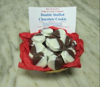 Double Fudge Cookies (Chocolate Dipped Oreo - 32 Count Basket)