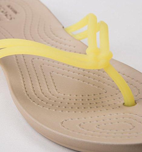 Sandalias Flip Crocs Isabella para Mujer amarillo Flop xqzwZPUwC