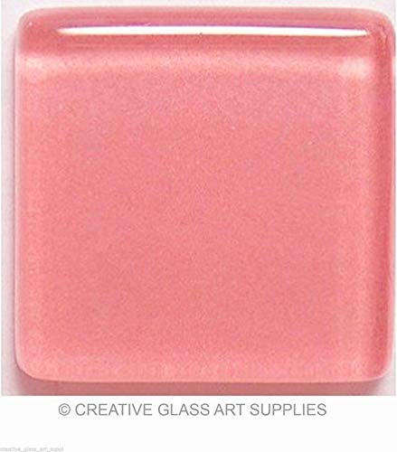 Glass Mosaic Tiles for Art DIY Crafts - Rose Pink - 3/8 inch - 50 Tiles - Craft & Art Supplies - for Indoor or Outdoor Mosaic Art Projects -
