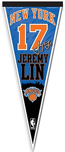 - NBA New York Knicks Jeremy Lin #17 12-Inch-by-30-Inch Vertical Pennant