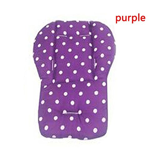 Frueaduy New Soft Pushchair Mat Polka Dot Printed Seat Cushion Cotton Baby Stroller Pad