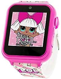 Touch-Screen Smartwatch, Built in Selfie-Camera, Easy-to-Buckle Strap, Pink Smart Watch - Model: LOL4104