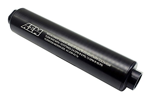 AEM 25-201BK High Volume Fuel Filter (Best Flash Suppressor Muzzle Brake For Ar 15)