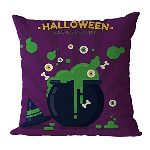 Big Promotion! Noopvan Happy Halloween Pillowcase, Halloween Home Decor Office Sofa Geometric Design Cushion Square Throw Pillow (A)