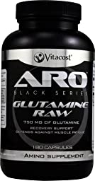 ARO-Vitacost Black Series Glutamine RAW -- 750 mg - 180 Capsules