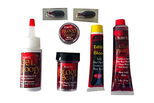 Living Nightmare FX Makeup Kit, Six-in-One Fake Blood Products (Easy Fake Blood)
