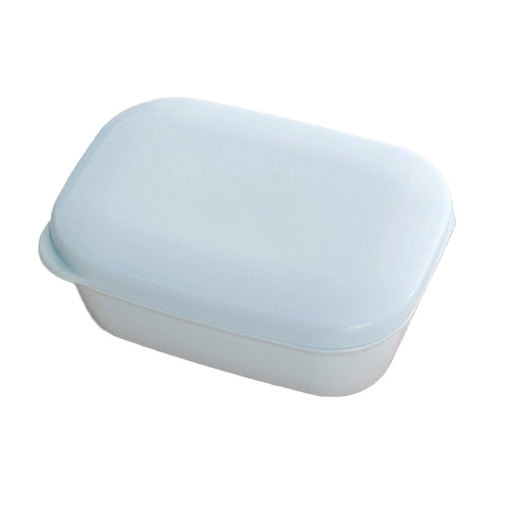 OUNONA Portasapone da bagno per doccia Portasapone doppio strato con coperchio portasapone con contenitore portasapone per lavabo e lavelli da cucina (blu)