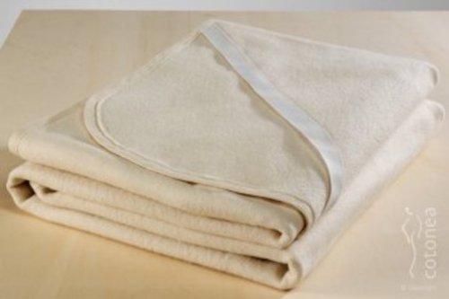 Cotonea Matrazenschutzauflage mit Eckgummis 90x200, weiss, Bio Baumwolle