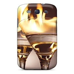 Case Cover Protector For Galaxy S3 Flaming Cocktails Case