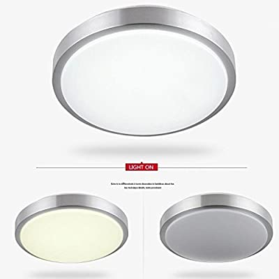 AFSEMOS Bright 12W 10-inch LED Flush Mount Ceiling Light,Surfac Mounted Downlight,60W Halogen Bulbs Equivalent,960Lm,Daylight White,LED Ceiling Lights for Dinning Room,Bedroom,Kitchen