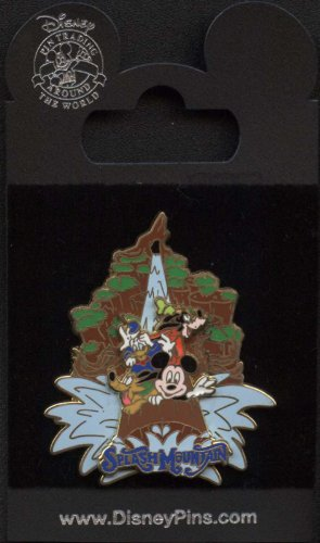 Disney Pin - Splash Mountain - Mickey - Fab 4 - Slider Pin 70257