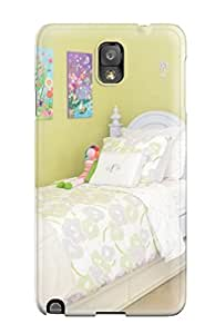 Protective Tpu Case With Fashion Design For Galaxy Note 3 (girls Room With White Twin Bed 038 Green Pillow)