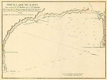 Alicante Map Of Spain.Amazon Com Xabia Bay Mouillage De Xavia Alicante Spain
