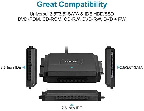 SATA/IDE to USB 3 0 Adapter, UNITEK IDE Hard Drive Adapter for Universal  2 5