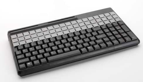 "Cherry Electronics G86-61400EUADAA SPOS QWERTY Keyboards, 135 Keys, 14.17"" x 7.79"" x 1.49"" Size, Black"