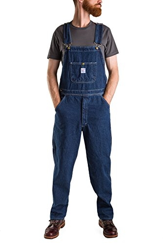Pointer Brand Indigo Tailored Cut High Back Overall   Washed 38X32 Blue