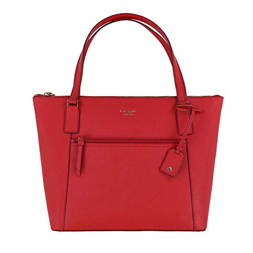 - Kate Spade Cameron Saffiano Leather Pocket Tote Bag Purse Handbag for Work School Office Travel (Hot Chili)