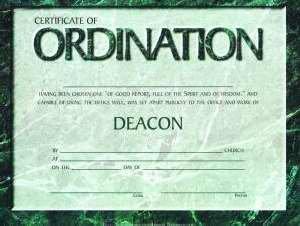 Certificate-Ordination-Deacon (6 - Ordination Certificate