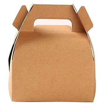 10 cajas de papel kraft para regalo, caja de regalo para ...