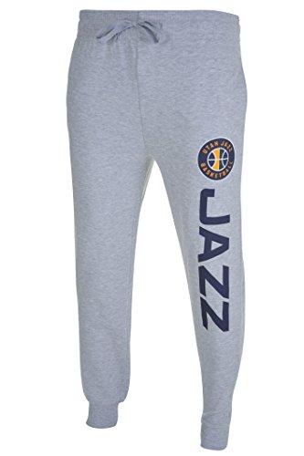 fan products of NBA Men's Utah Jazz Jogger Pants Active Basic Soft Terry Sweatpants, Large, Gray