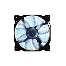 MagiDeal 3-Pin/4-Pin 120mm PWM PC Computer Case CPU Cooler Cooling Fan With Red LED - Blue