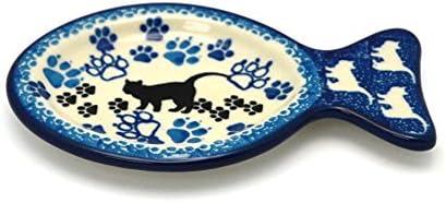 Polish Pottery Loop Handle Bowl Boo Boo Kitty