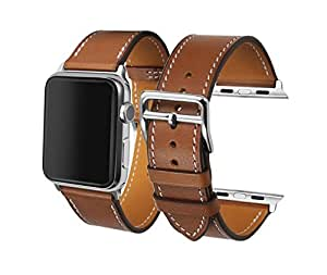 Apple Watch Band 42mm,CAILIN Genuine Leather fit iWatch & Sport & Edition Series 1 Series 2 (brown)