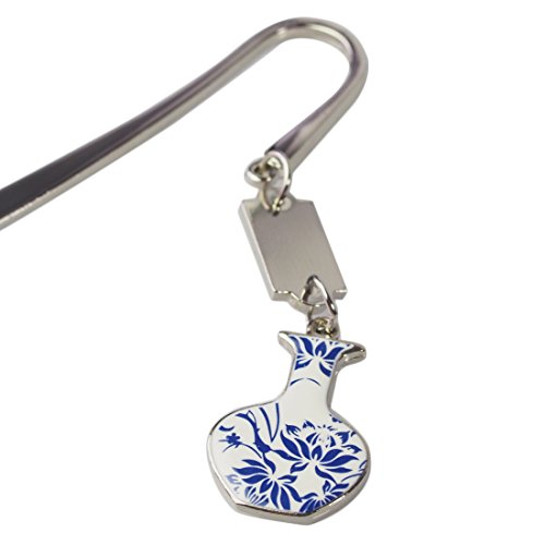 kilofly Metal Hook Bookmark with Chinese Porcelain Pendant Value Pack [Set of 3] Photo #5