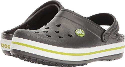 Price comparison product image Crocs Kids' Crocband K Clog, Graphite/Volt Green, 4 M US Toddler