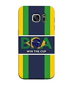 ColorKing Football Brazil 27 Multi Color shell case cover for Samsung S7 Edge