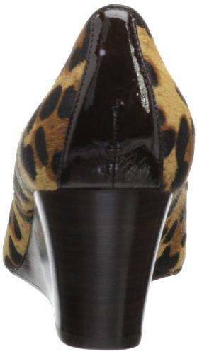 Donald J Pliner Womens Natali-l4 Wedge Pump Black / Leopard Pony Haircalf
