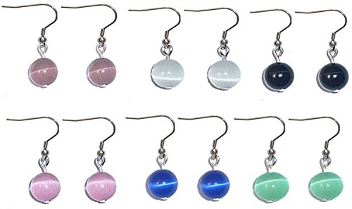 Beaded Dangle Earrings, Surgical Stainless Steel French wire Women